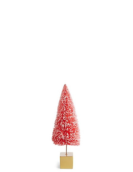 Small Bright Pink Bristle Tree
