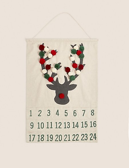 Hanging Fabric Stag Advent
