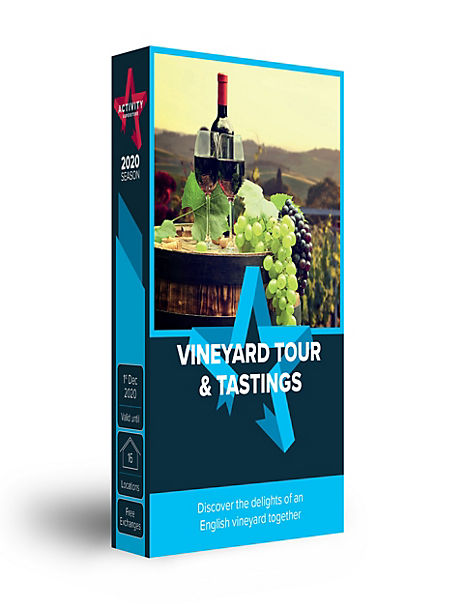 Vineyard Tour and Tastings for Two - Gift Experience Voucher