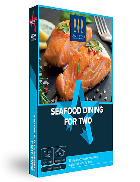 Seafood Dining for Two - Gift Experience Voucher