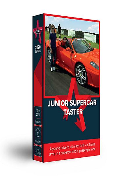 Junior Supercar Driving Taster - Gift Experience Voucher