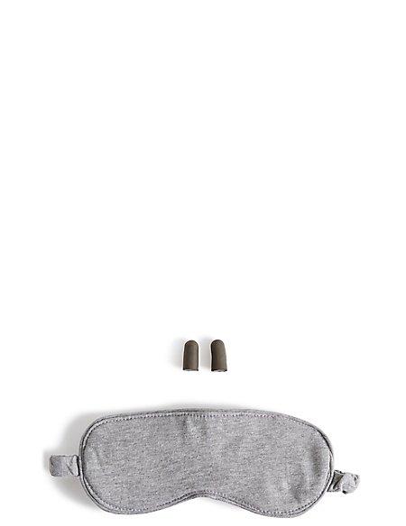 Grey Eye Mask & Ear Bud Set