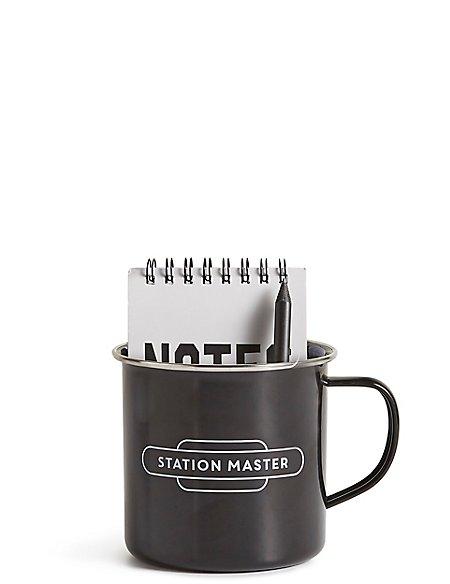 Train Mug & Notebook