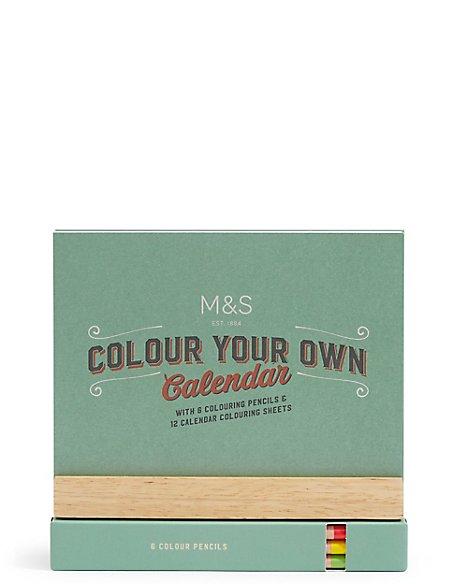 Colour Your Own Desk Calendar