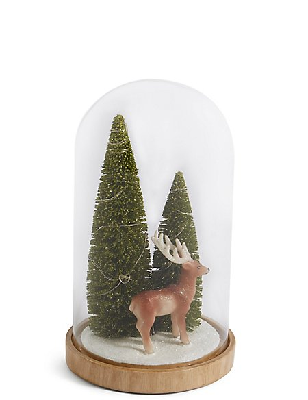Reindeer In Large Light Up Cloche M S