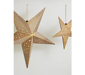 Wooden Hanging Die Cut Stars