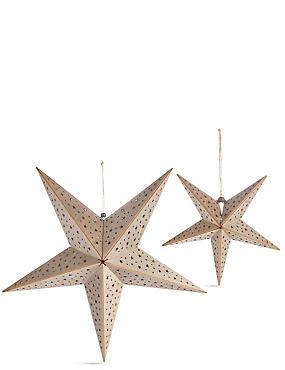 Wooden Hanging Die Cut Stars