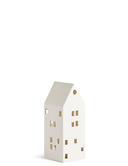 Slim Light up Ceramic House