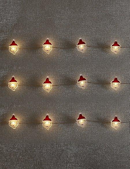 20 Santa LED Wire Lights