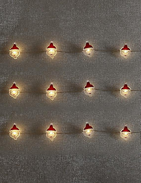 20 Santa LED Wire Lights