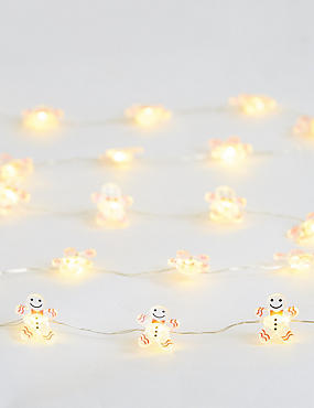 20 Gingerbread Wire Lights, , catlanding