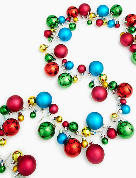 Multi-coloured Bauble Garland Lights