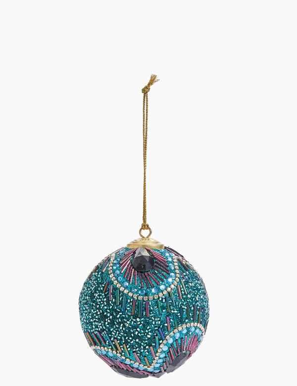 Turquoise Christmas Tree.Christmas Trees Decorations M S
