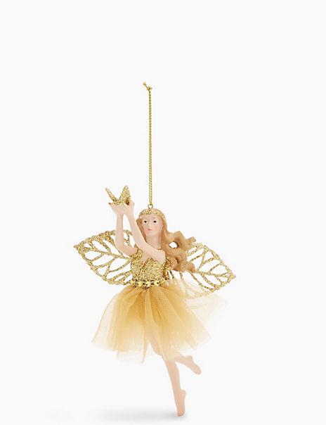 Gold Fairy Hanging Tree Decoration