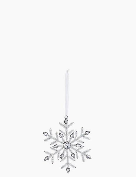 Beaded Snowflake Tree Decoration