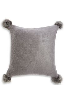Faux Fur Pom Pom Cushion