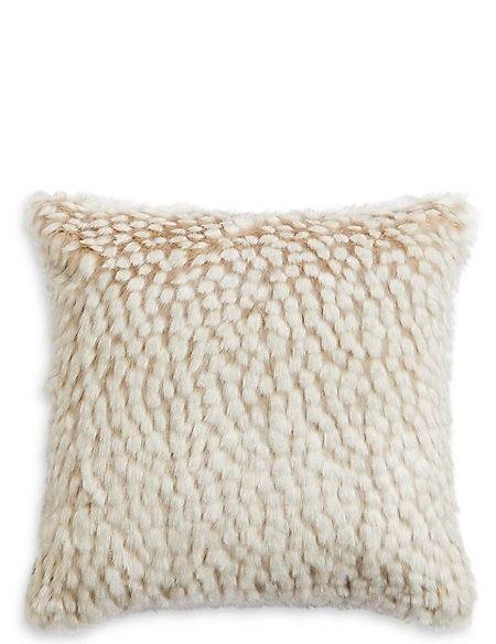 Speckled Faux Fur Cushion