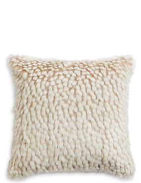 Speckled Faux Fur Cushion