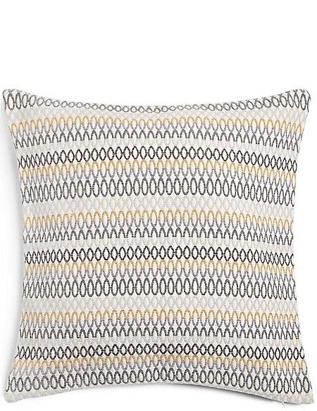 Oversized Geometric Chenille Cushion
