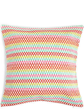 Oversized Geometric Chenille Cushion