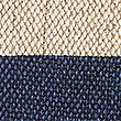 Jute Striped Outdoor Cushion, NAVY, swatch