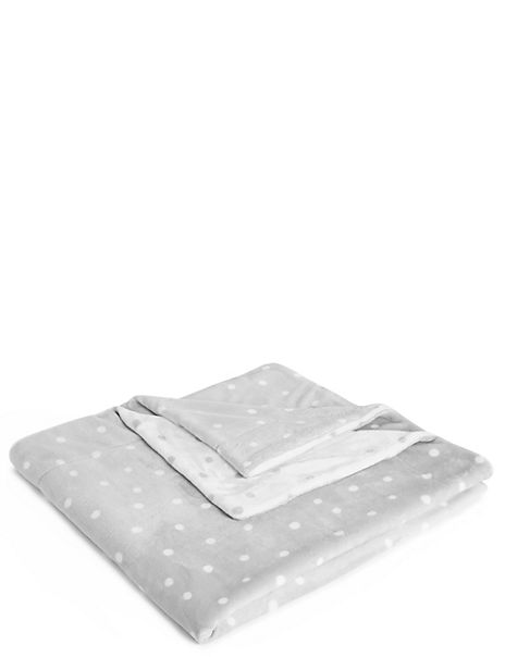 Spot Print Fleece Throw