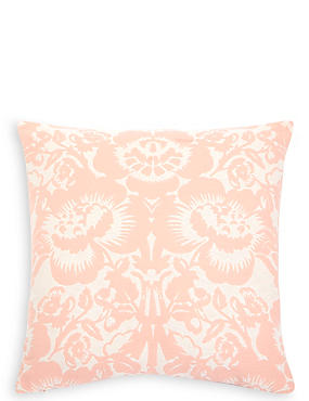 Floral Damask Jacquard Cushion