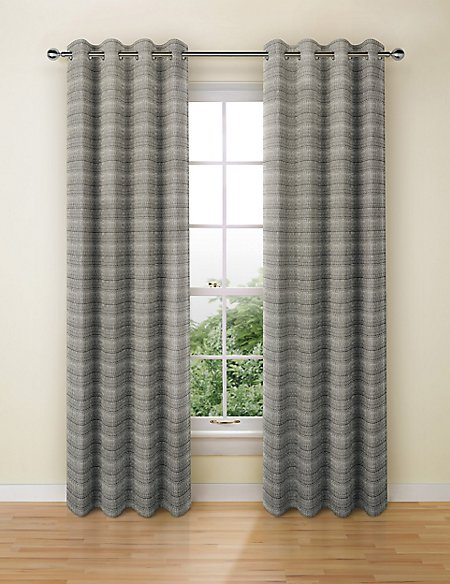 Varied Stripe Eyelet Curtains