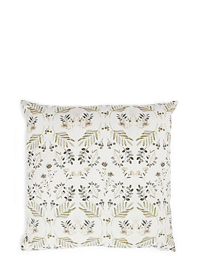 Painterly Floral Print Cushion
