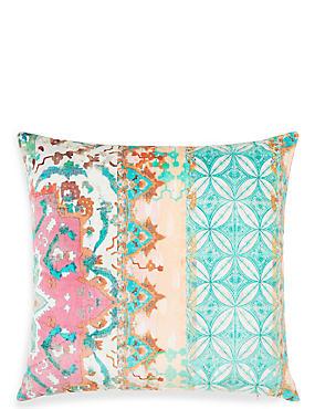 Velvet Tile Print Cushion