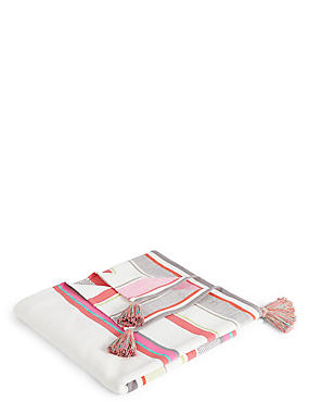 Summer Bright Stripe Throw