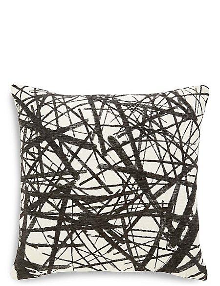 Monochrome Line Print Cushion