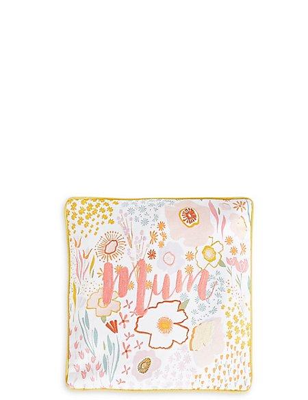 Mini Print & Stitch Mum Cushion