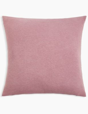 Ribbed Jersey Cushion by Marks & Spencer