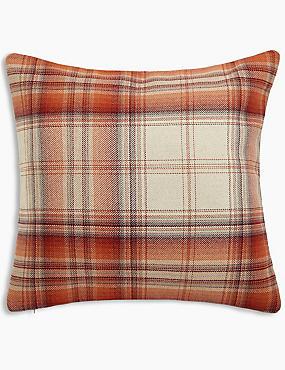 Cosy Checked Cushion
