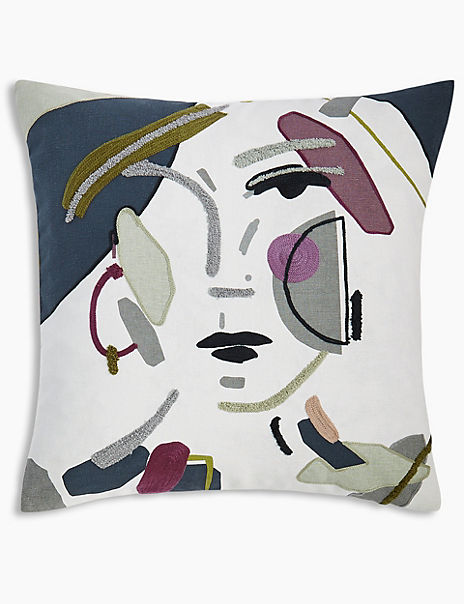 Nina Embroidered Cushion