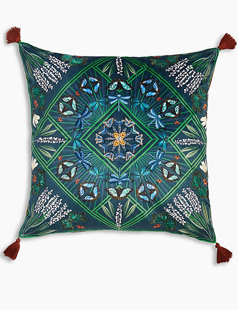 Martha Butterfly Embellished Cushion