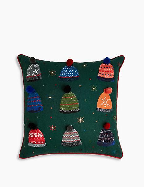 LED Light Up Bobble Hat Cushion