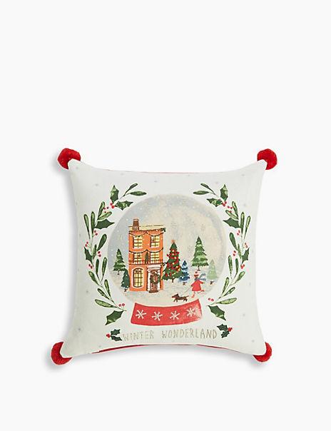 Snow Globe Cushion