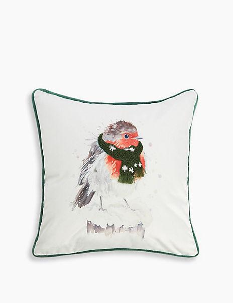 Robin Print Cushion