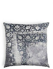 Oversized Velvet Vintage Print Cushion