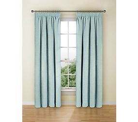 Spot Chenille Pencil Pleat Curtain