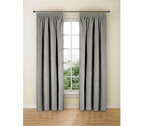 Spot Chenille Pencil Pleat Curtain