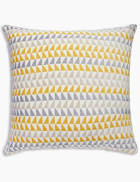 Triangle Chenille Cushion