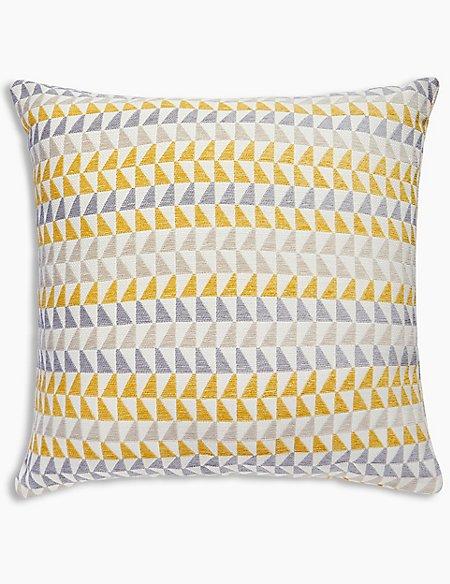 Triangle Chenille Cushion