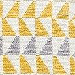Triangle Chenille Cushion, OCHRE, swatch