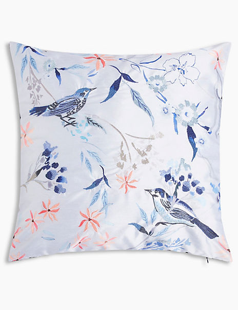 Watercolour Bird Cushion