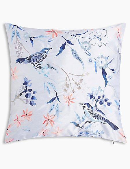 Watercolour Bird Cushion