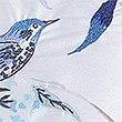 Watercolour Bird Cushion, BLUE MIX, swatch