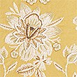 Ornamental Floral Embroidered Cushion, OCHRE, swatch